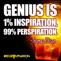 Genius Quote - Edison